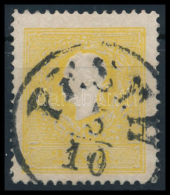2kr II. yellow, centered