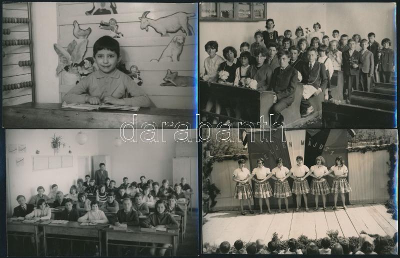 Szentesi életképek, Demeter Sándor szentesi fényképész 13 db vintage fotója, 9x14 cm