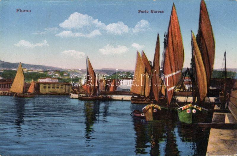 Fiume, Port Baross / port, ships
