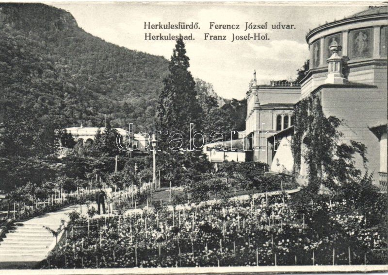 Baile Herculane, Franz Josef-Hof / court yard, Herkulesfürdő, Ferenc József udvar