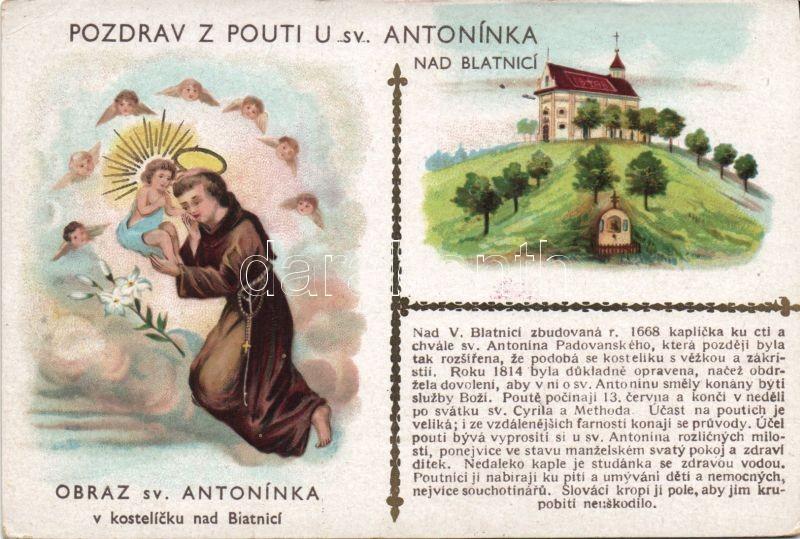 Blatnice, Pouti u sv. Antonínka, Obraz sv. Antonínka / Pilgrim Chapel Of Saint Anthony, image of St. Anthony litho