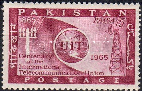 100th anniversary of International Telecommunication Union stamp, 100 éves a Nemzetközi Távközlési Unió bélyeg, 100 Jahre Internationale Fernmeldeunion Marke
