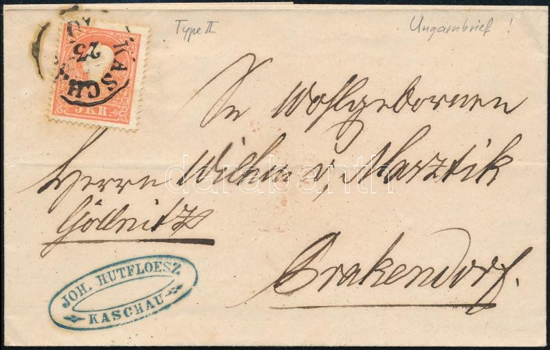 ~1860 5kr II. on cover