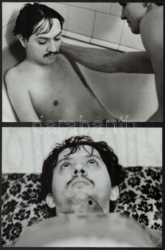 cca 1987 Kerekes Gábor fotósorozata Papp Zsoltról, 6 db vintage fotó, pecséttel jelzett, publikálva a Képes7-ben, 17x23 cm