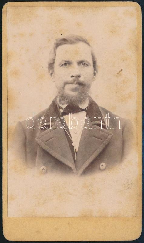 cca 1865 Jelzés nélküli, vizitkártya méretű fénykép, 10,5x6 cm