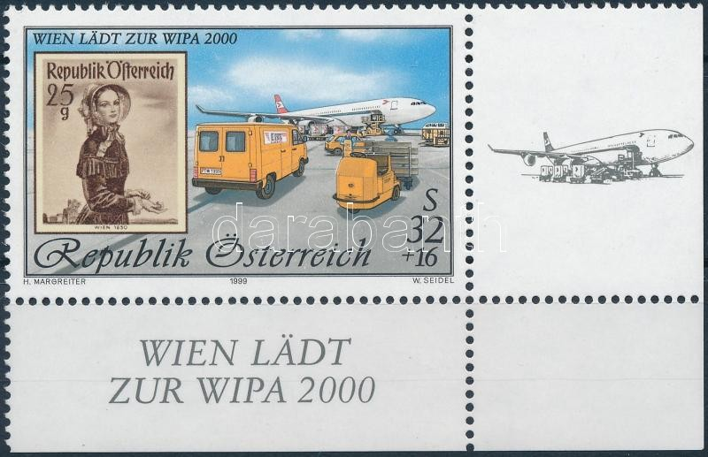 WIPA 2000, Wien (III) corner stamp, WIPA 2000, Bécs (III) ívsarki bélyeg