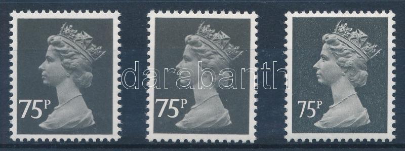 Elizabeth II 3 stamps, II. Erzsébet brit királynő 3 db bélyeg