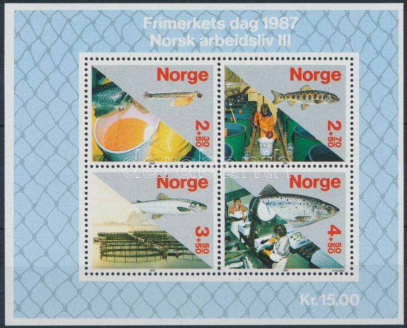 Stamp day: fish-breeding block, Bélyegnap: haltenyésztés blokk