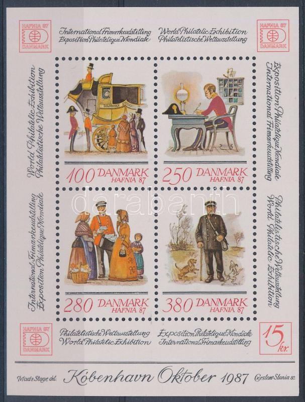 International stamp exhibition HAFNIA '87 Copenhagen  block, Nemzetközi bélyegkiállítás HAFNIA '87 Koppenhága blokk