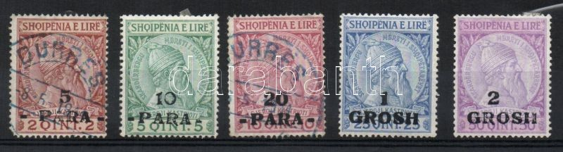 Definitive, Skanderbeg overprinted set, Forgalmi, Skanderbeg felülnyomva sor