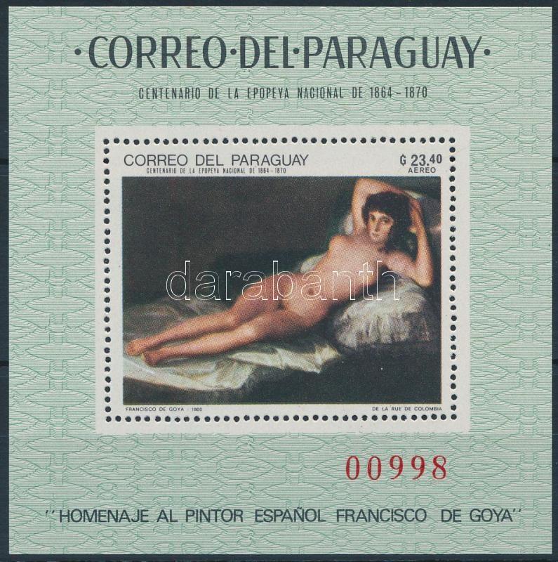 Goya painting block, Goya festmény blokk