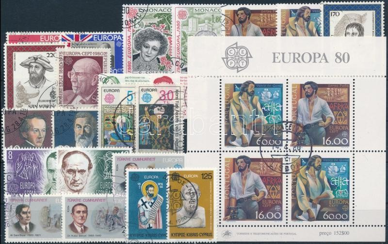 Europa CEPT 1980-1981 57 stamps and 6 blocks, Europa CEPT 1980-1981 57 db bélyeg és 6 blokk