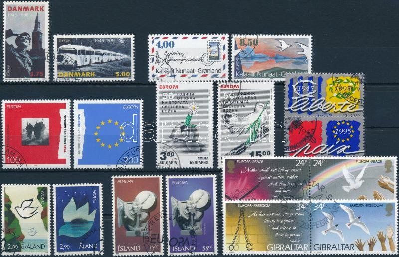 Europa CEPT 1994-1995 71 stamps and 3 blocks, Europa CEPT 1994-1995 71 db bélyeg és 3 blokk