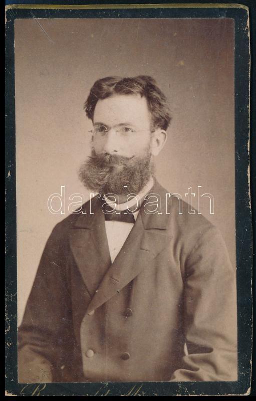 cca 1887 Rupprecht Mihály soproni fényképész műtermében készült, vizitkártya méretű vintage fotó, 10x6 cm