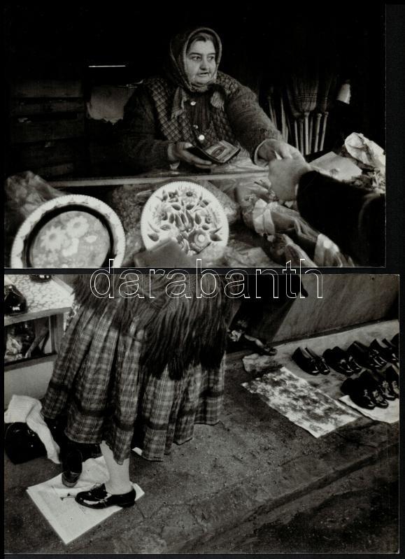 cca 1974 Szabó Tünde feliratozott vintage alkotásai, 3 db vintage fotó a magyar fotográfia szociofotó korszakából, 17,2x23 cm