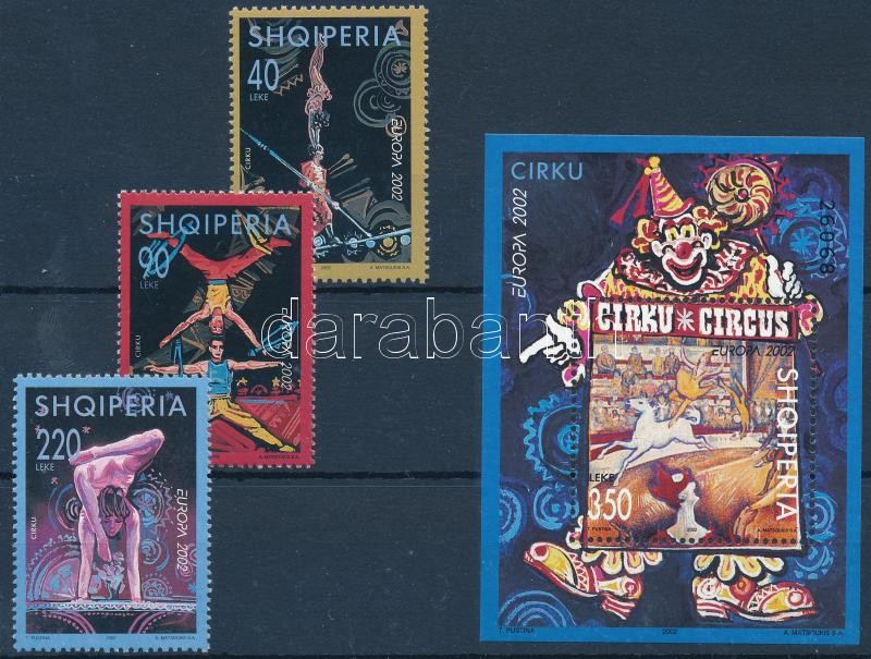 Europa CEPT Circus set + block, Europa CEPT Cirkusz sor + blokk