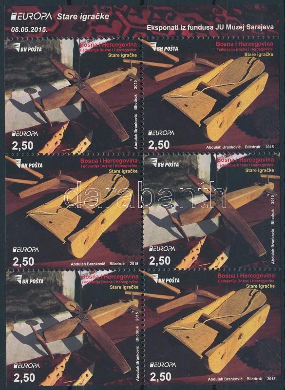 Europa CEPT Történelmi játék bélyegfüzet lap, Europa CEPT Historical toy stamp-booklet sheet