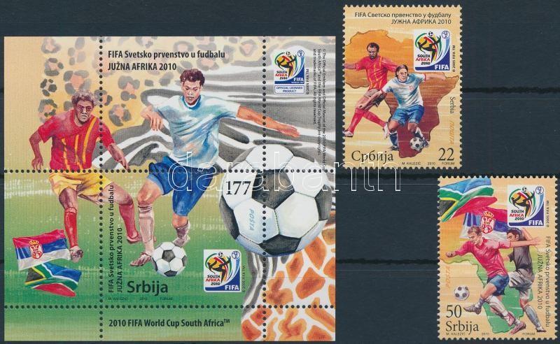 Football World Cup, South Africa set + block, Labdarúgó-világbajnokság, Dél-Afrika sor + blokk