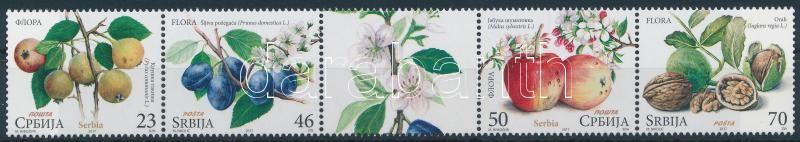 Fruits stripe of 5 with tab, Gyümölcsök szelvényes ötöscsík