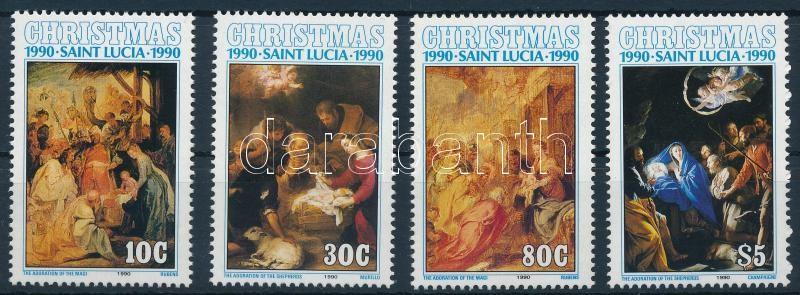 Christmas, paintings set, Karácsony, festmények sor