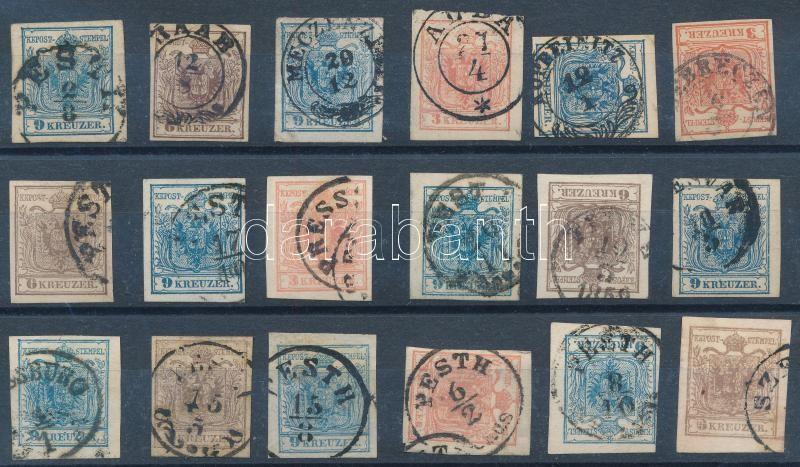 18 pcs of stamps with nice cancellations, 18 db bélyeg szép /olvasható bélyegzésekkel