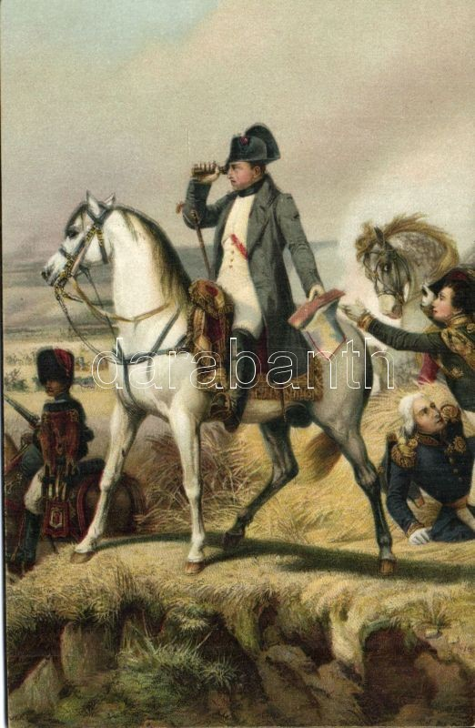 Napoleon at Wagram litho s: Horace Vernet