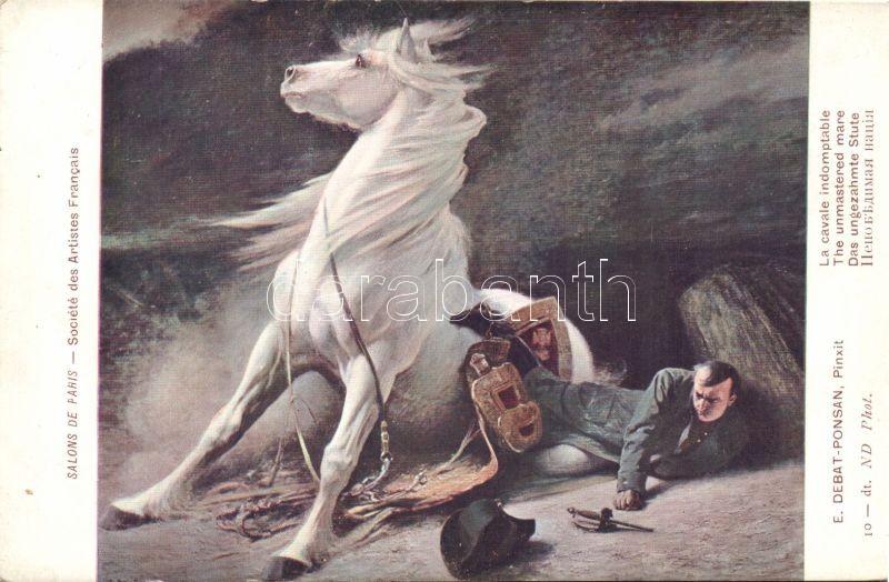 The unmastered mare, soldier pinx. E. Debat Ponsan, A nem betört kanca, katona pinx. E. Debat Ponsan