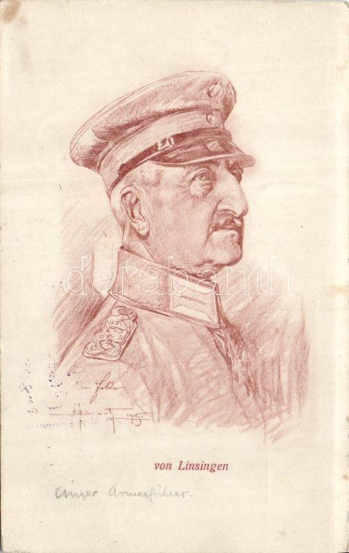 Alexander von Linsingen, artist signed