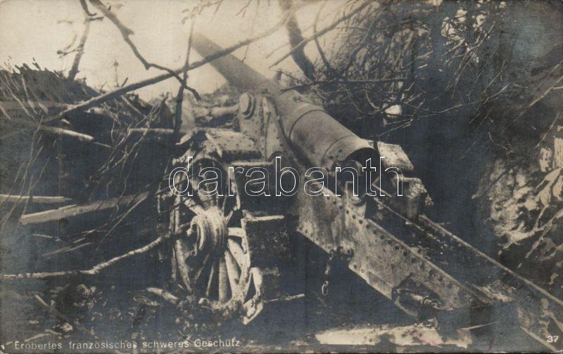 WWI French occupied cannon, Első világháborús lefoglalt francia nehéz ágyú