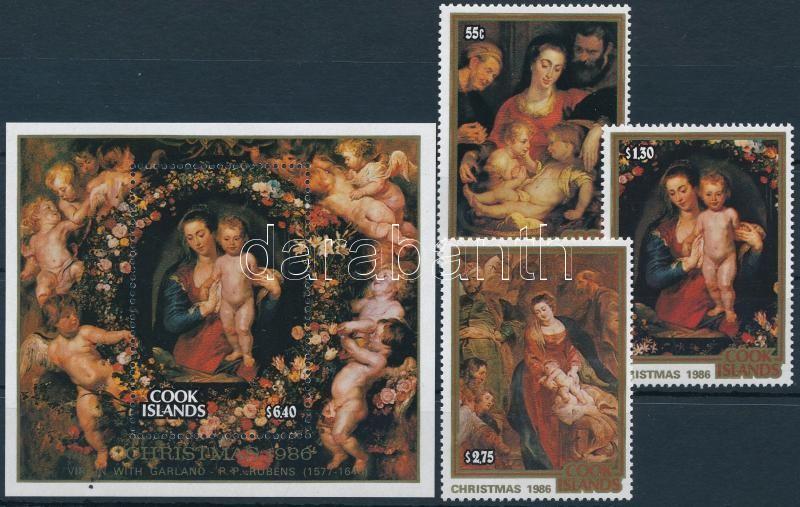 Christmas, Rubens set + block, Karácsony, Rubens sor + blokk