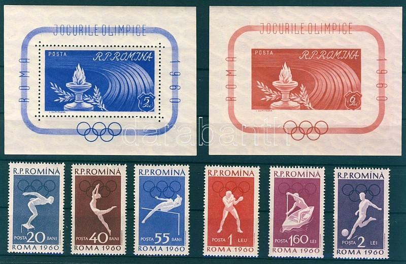 Rome Olympics set + block of set Olimpia Róma sor + blokksor