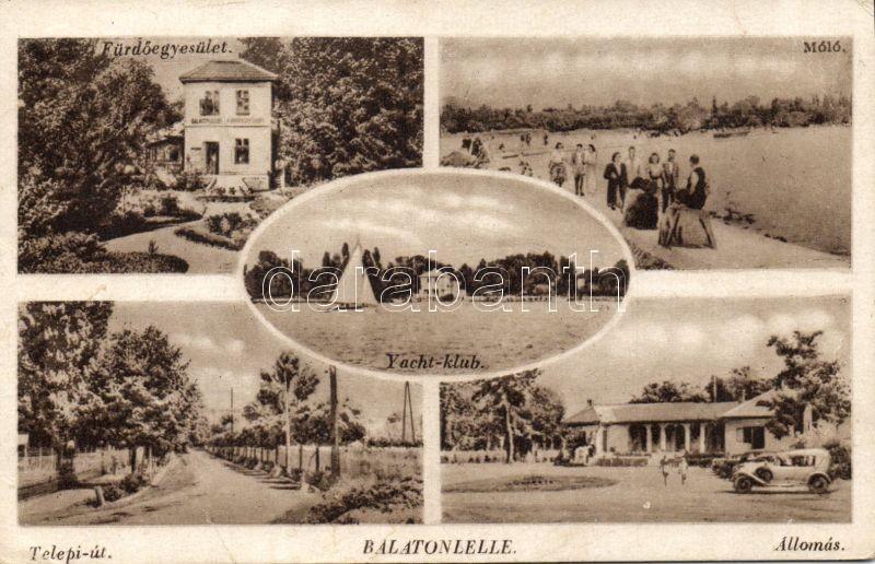 Balatonlelle vasútállomás, Fürdőegylet, Yacht klub, Telepi út