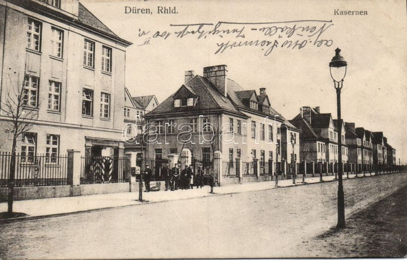 Düren, Kasernen / barracks (wet damage)