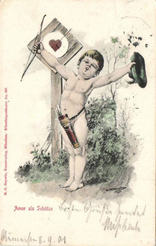 Amor als Schütze, No. 387. s: Wittmann