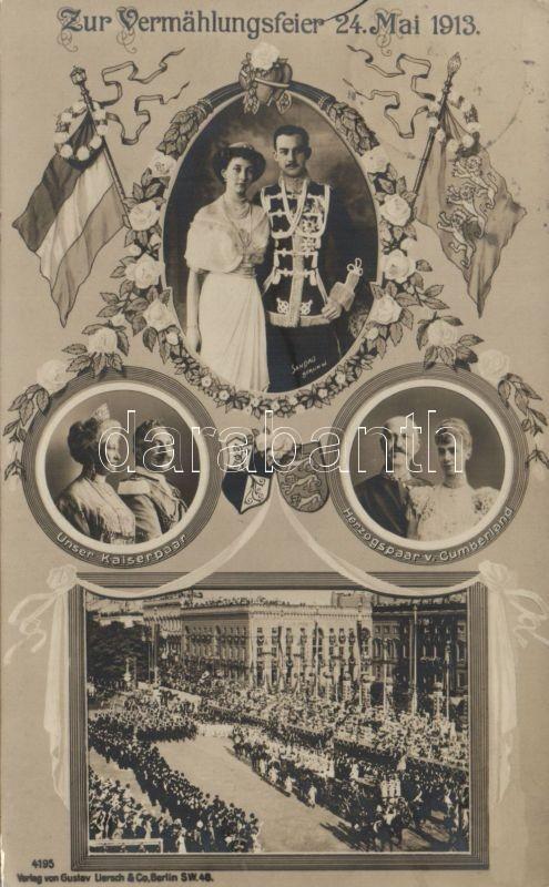 1913 Prinz Ernst August, Prinzessin Victoria Luise, wedding celebration