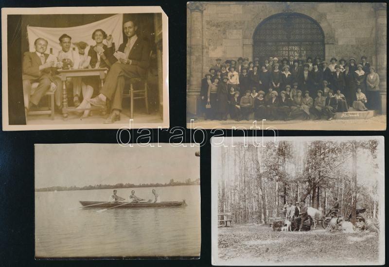 cca 1944 előtt, különböző időpontokban és eltérő helyszíneken készült 13 db vintage fotó, különféle témákról, 11,5x8 cm és 9x14 cm között