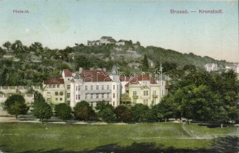 Brasov, street, Brassó, Kronstadt; Posta út