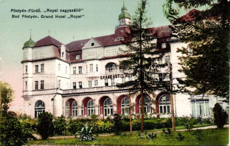 Pöstyénfürdő, Grand Hotel Royal, Pöstyénfürdő, Royal Nagyszálló, kiadja Laufer Nándor