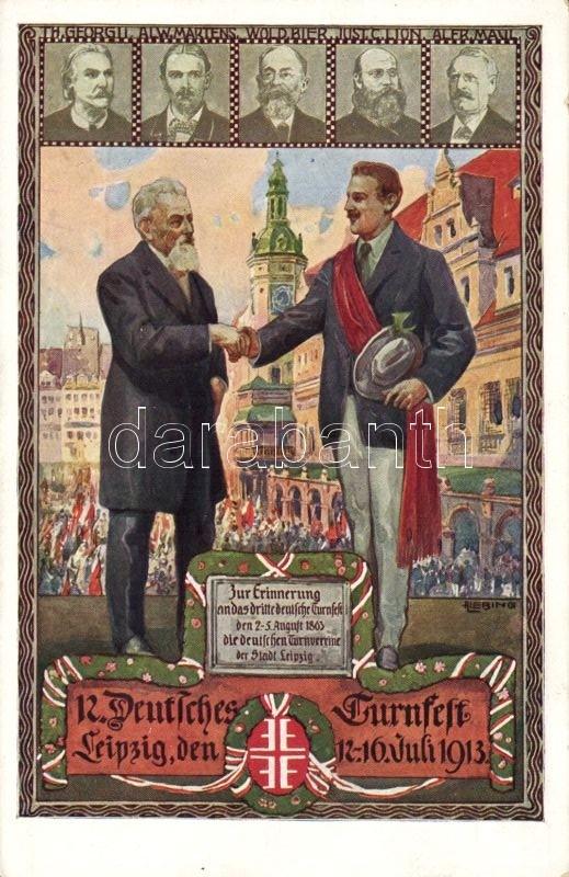 1913 12. Leipzig, Deutsches Turnfest s: Liebing