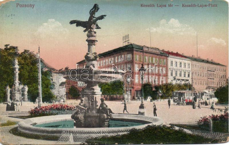 Bratislava, square, tram, Pozsony, Kossuth Lajos tér, villamos