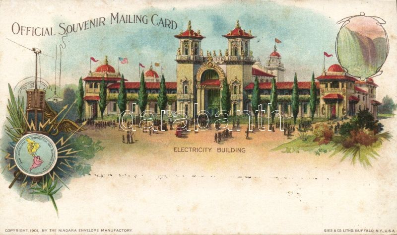1904 Saint Louis, St. Louis; World's Fair, Electricity Building, litho