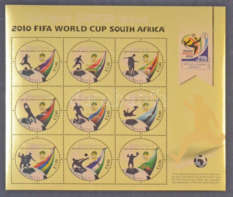 Football World Cup, South Africa mini sheet, Futball Világbajnokság, Dél-Afrika kisív