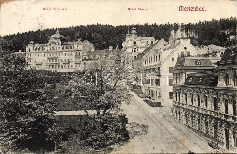 Marianske Lazne, Marienbad; Hotel Weimar and Stern, Mud Bad / mud bath