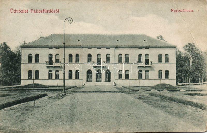 Palic, Grand hotel, Palicsfürdő, Nagy szálloda, kiadja Heumann Mór