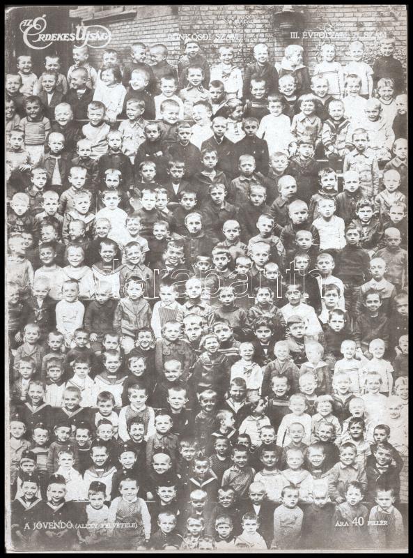 1915. május 23. Az Érdekes Újság III. évfolyamának 21. száma, benne számos katonai fotó az I. vh. szereplőiről, eseményeiről, fegyverekről, politikusokról, továbbá egész oldalas hirdetés grafikai illusztrációkkal hadiórákról és hadiékszerekről, 56p