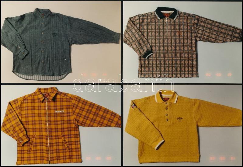 cca 1982 Divatos felső ruházati cikkek, 13 db tárgyfotó kereskedők részére, 13 db vintage fotó, 10x15 cm