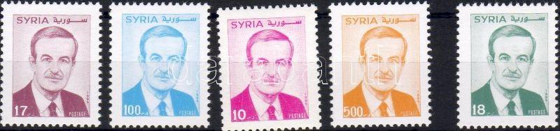 President Assad set + one stamp, Asszad elnök sor + 1 bélyeg, Präsident Assad Satz + Marke