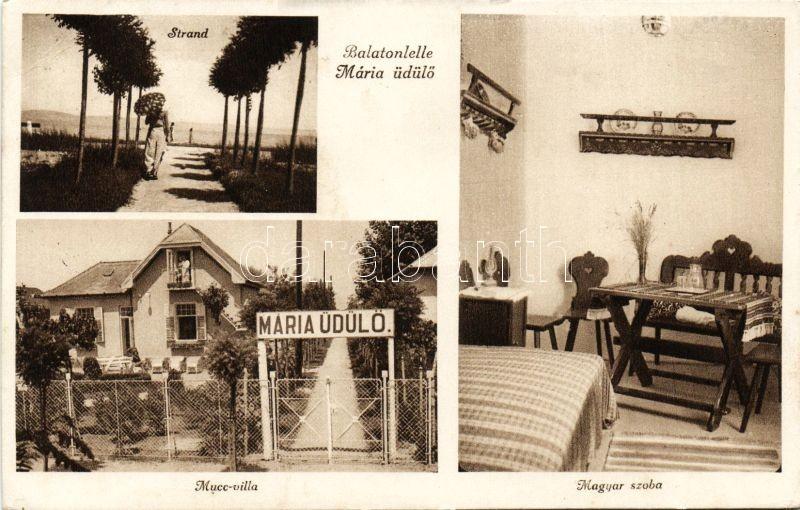 Balatonlelle, Mária üdülő, Mucc-villa, Magyar szoba, belső