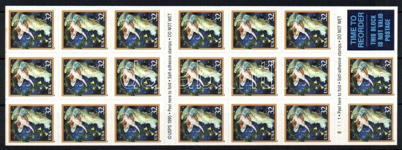 Christmas sheet sticker F-Bl., Karácsony bélyegfüzetlap öntapadós F-Bl., Weihnachten selbstklebend Folienblatt