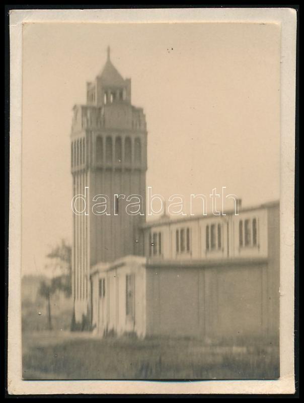 1929 Kinszki Imre (1901-1945) budapesti fotóművész hagyatékából, a szerző által feliratozott vintage fotó (Zugló, ez a 355. sz. felvétele), 4,8x3,6 cm